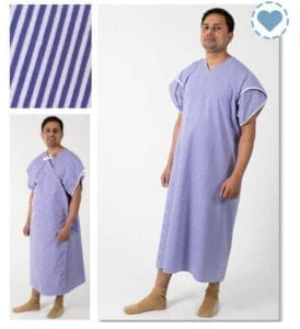 Dignity patient hospital gown