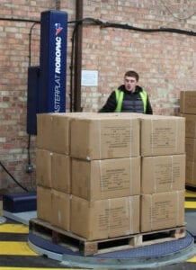 Pallet wrapping reduce plastic use