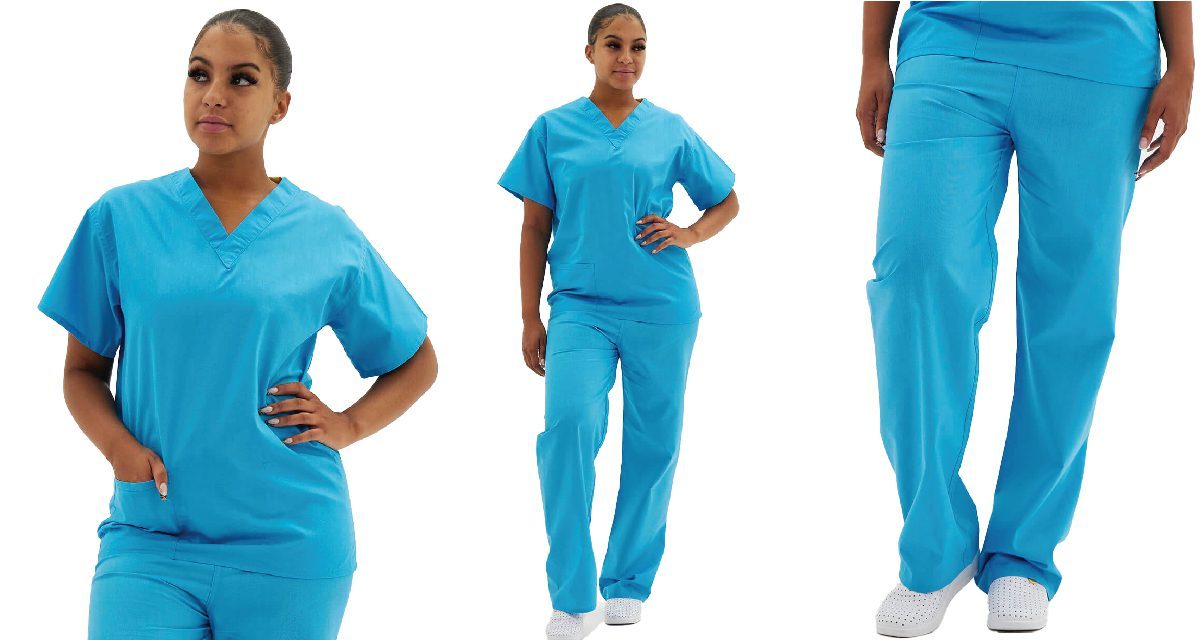 Why should you wear turquoise scrubs?