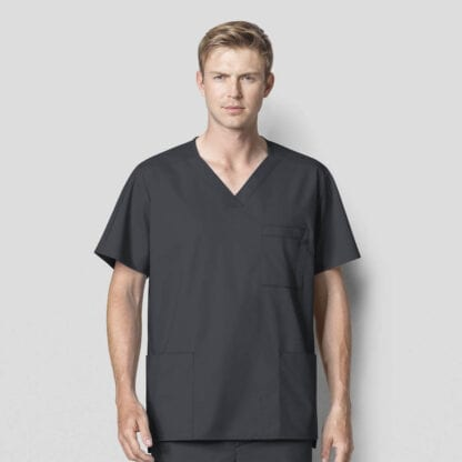 mens scrub tops with pockets