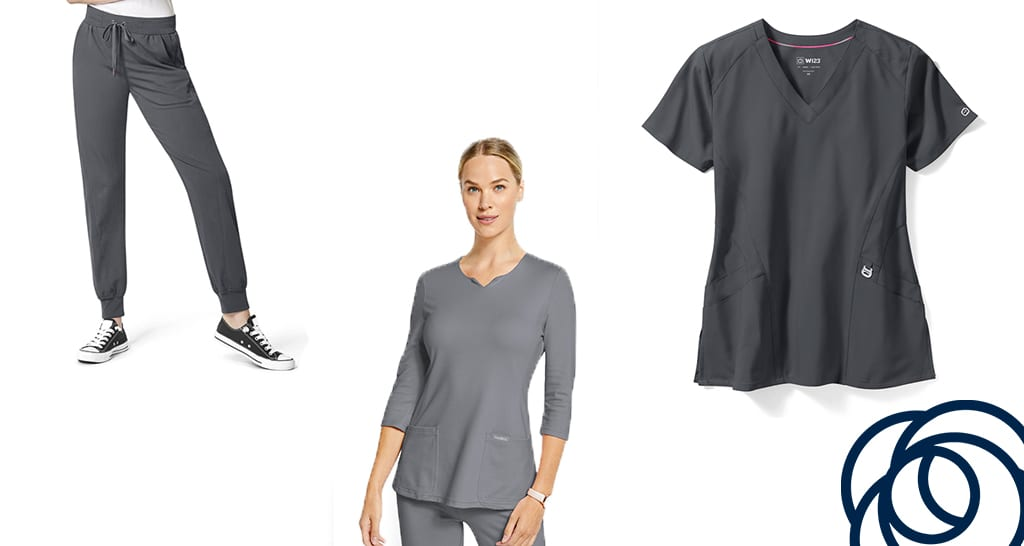 5 of our favourite grey scrub sets