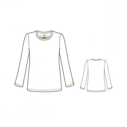 Layers Silky Long Sleeve Top WW2009 Style Outline
