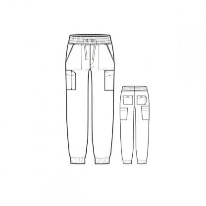 W123 Men's Cargo Jogger Trousers WW5655 Style Outline